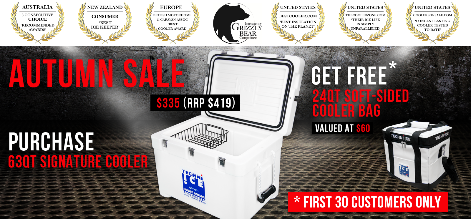 Techni Ice Cooler Banner